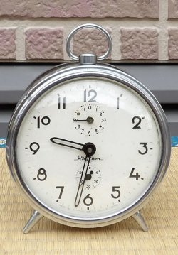 画像1: リズム時計・丸型(懐かしのベル付)昭和30年代・日巻き