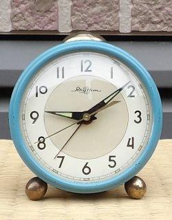 画像1: リズム時計【小さなベル付き目覚まし】昭和40年代手巻き