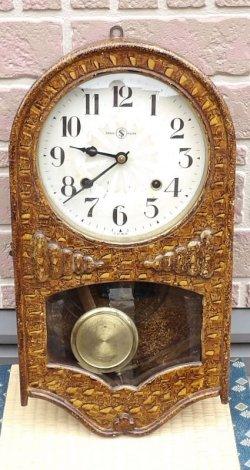 画像1: 頭半丸・八日まき掛時計・変わりケース、変り模様